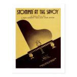 Stompin en la cubierta del cancionero del vintage  postales