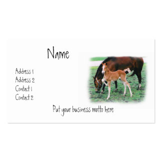 Stomping Foal Crosstitch Business Card
