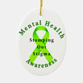 Stomping Out Stigma Ceramic Ornament