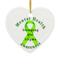 Stomping Out Stigma Ceramic Ornament