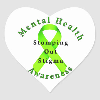 Stomping Out Stigma Heart Sticker