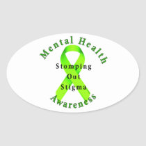 Stomping Out Stigma Oval Sticker
