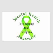 Stomping Out Stigma Rectangular Sticker