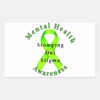 Stomping Out Stigma Rectangular Sticker