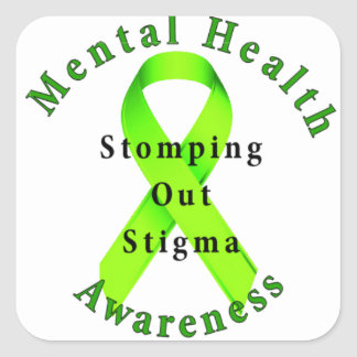 Stomping Out Stigma Square Sticker