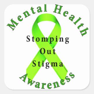 Stomping Out Stigma Square Sticker