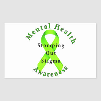 Stomping Out Stigma Rectangle Stickers
