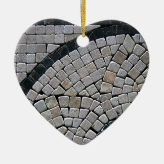 Stone 2  Heart Ceramic Ornament