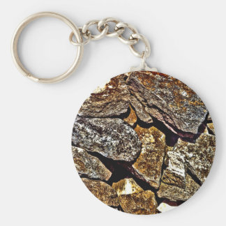 Stone Abstract Keychain
