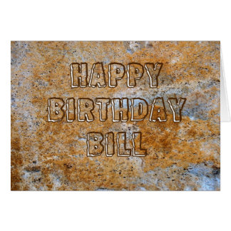 Stone Age Happy Birthday Bill Card