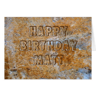 Stone Age Happy Birthday Matt Card