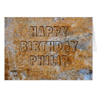 Stone Age Happy Birthday Philip Card