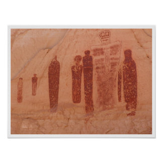 Stone Age Shadows Art Poster