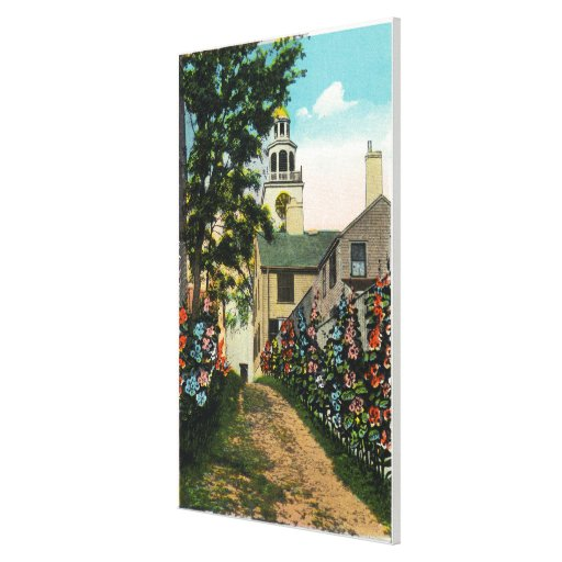Stone Alley View of South Tower and Town Clock Gallery Wrapped Canvas