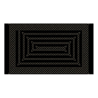Stone And Black Celtic Rectangular Spiral Double-Sided Standard Business Cards (Pack Of 100)