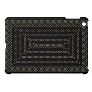 Stone And Black Celtic Rectangular Spiral Cover For The iPad Mini