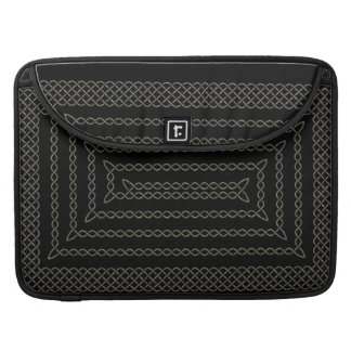 Stone And Black Celtic Rectangular Spiral Sleeve For MacBook Pro