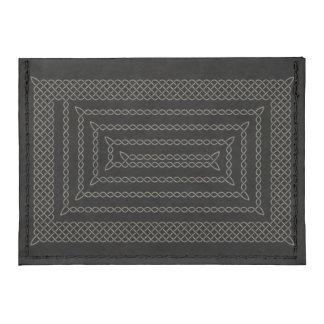 Stone And Black Celtic Rectangular Spiral Tyvek® Card Wallet