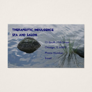 Stone and water grass in lake Business Card