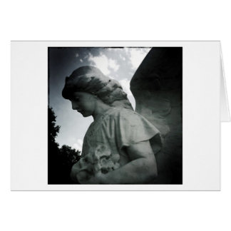 Stone Angel Blank Greeting Card