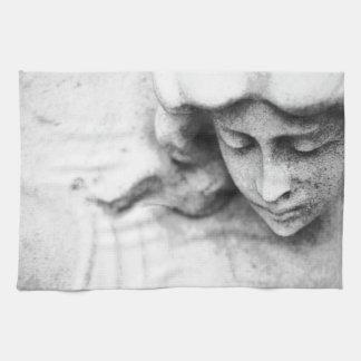 Stone angel hand towels