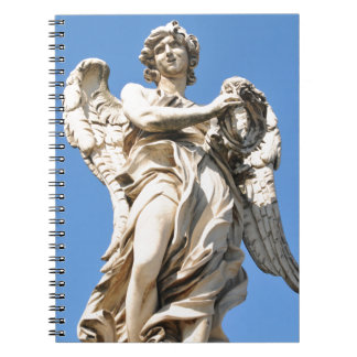 Stone angel in Rome, Italy Notebook