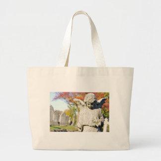 Stone angel large tote bag