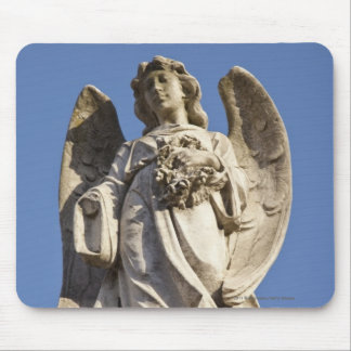 Stone Angel Looking Down Statue in Buenos Aires Mouse Pad