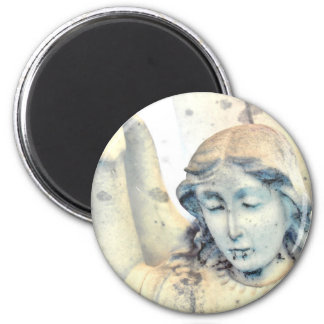 Stone angel portrait magnet
