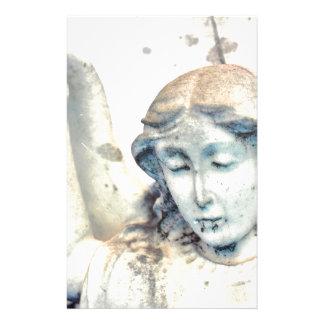 Stone angel portrait stationery