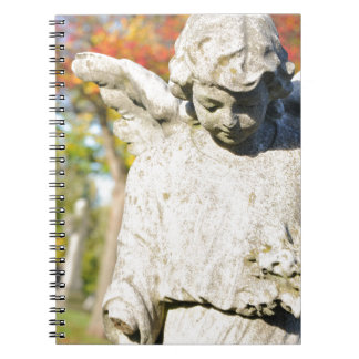 Stone angel spiral notebook