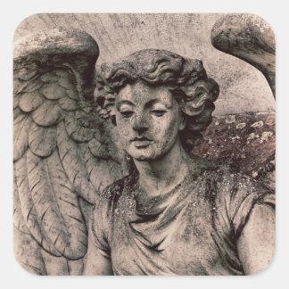 Stone Angel Square Sticker
