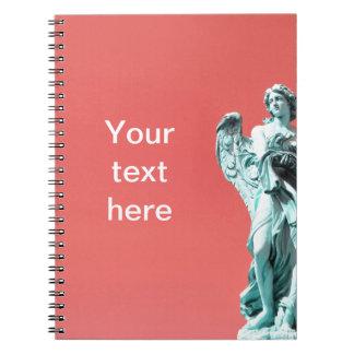 Stone angel statue notebook