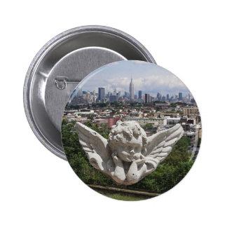 Stone Angel views Manhattan Pinback Button