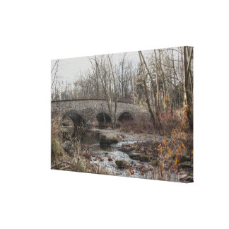 Stone Arch Bridge At Weitzel's Mill - Green Lane Canvas Print