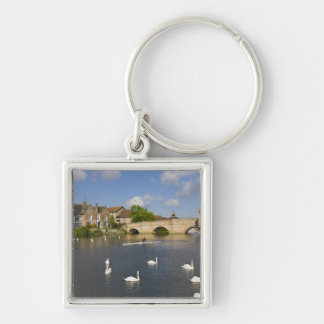 Stone arched bridge and River Ouse, St Ives, Keychain