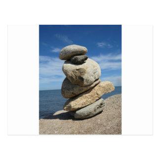 Stone Art Balanace Postcard