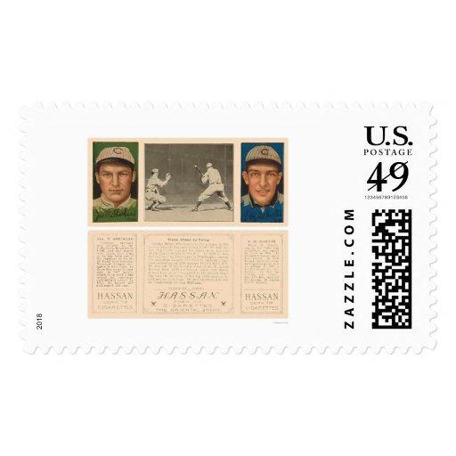 Stone At Bat Browns Cubs Baseball 1912 Stamps