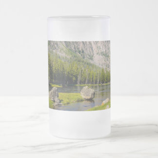 Stone At Madison River Frosted Glass Beer Mug