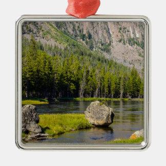 Stone At Madison River Metal Ornament