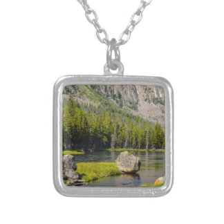Stone At Madison River Silver Plated Necklace