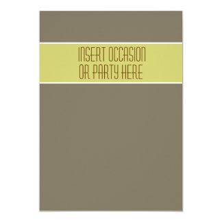 Stone avocado green wedding party 5x7 paper invitation card