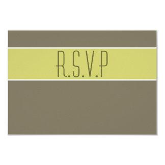 Stone avocado green wedding rsvp 3.5x5 paper invitation card