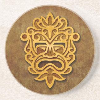 Stone Aztec Mask Coasters