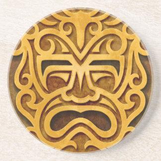 Stone Aztec Mask, full Coasters