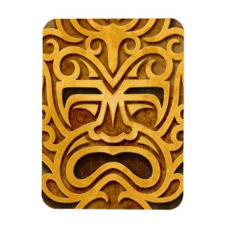 Stone Aztec Mask, full Rectangular Photo Magnet