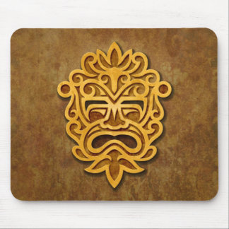 Stone Aztec Mask Mouse Pad