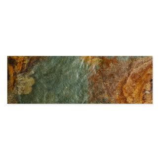 Stone Background - Slate Rock Customized Template Mini Business Card