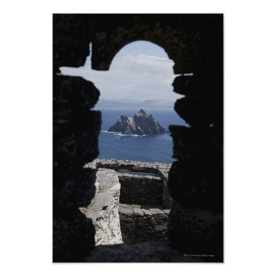 Stone Beehive Monk Huts Clochanson Skellig Michael Poster