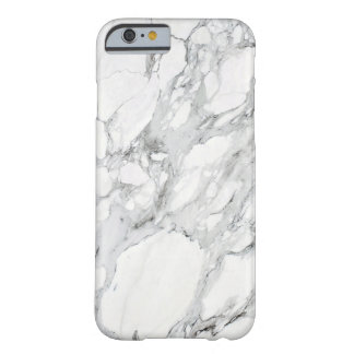 Stone Black White Grey Carrara Marble Barely There iPhone 6 Case